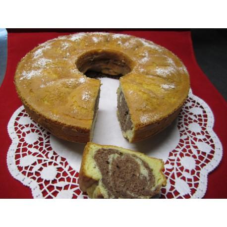 Marmorkuchen mit Nüssen