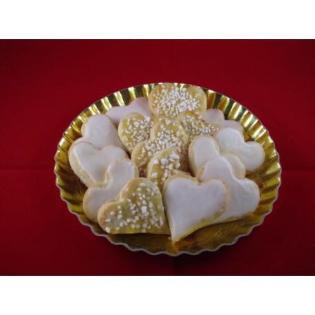 Zitronen Weihnachtsherzen, 250 gramm