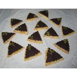 Pistazien Dreiecke mit Marzipanfüllung, 250 gramm